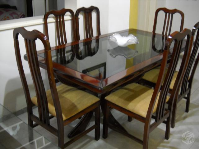 Jogo De Sala De Jantar Em Madeira ~ jogo de sala de jantar vendo jogo de sala de jantar mesa c 6 cadeiras