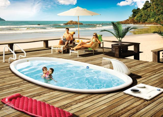 Linda piscina de fibra com lts marca igui semi nova for Vendo piscina de fibra
