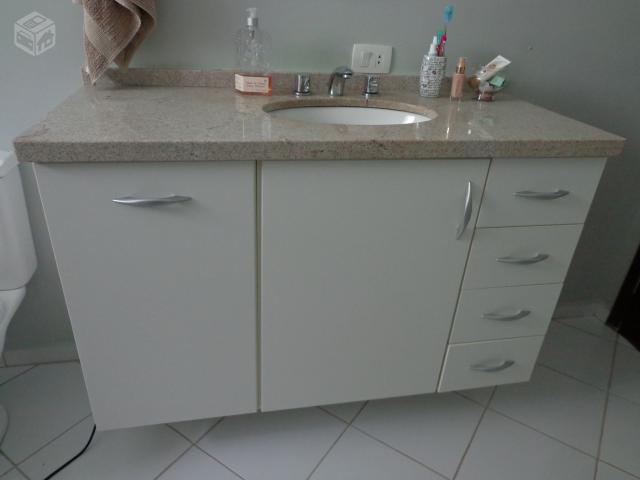 pia armario para banheiro com tampo de granito torneira  Vazlon Brasil -> Tampo Para Pia De Banheiro