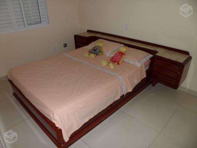Bau De Cama Casal ~ linda cama casal com cabeceira almofadada com bau gavetas