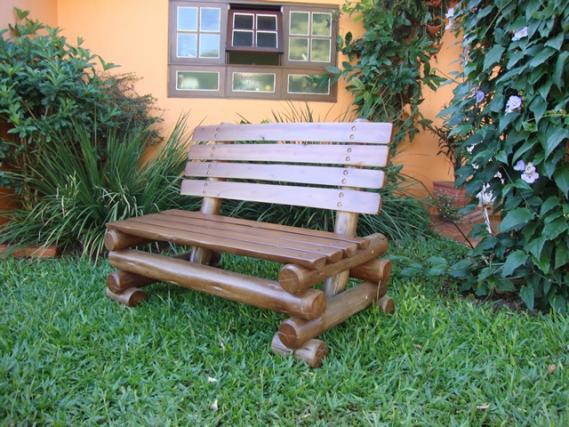 Conjunto De Bancos Rusticos Um Dois E Três Lugares Pictures to pin on