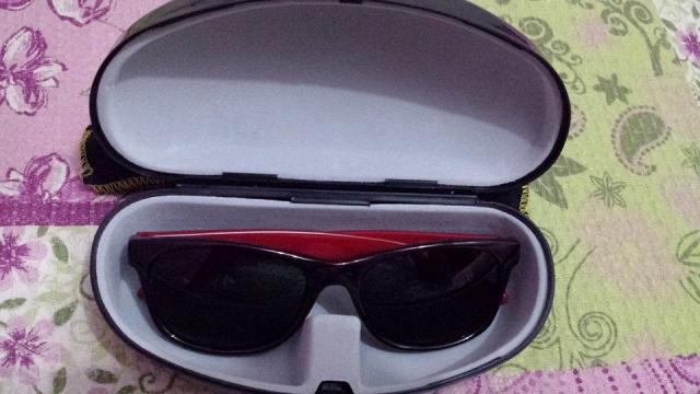 oculos de sol oxer orfeu espelhado unissex preto vermelho   OFERTAS ... 3c51797b71