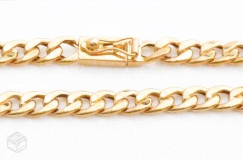 9faf7b270554b pulseira masculina ouro k elo grumet g cm   OFERTAS     Vazlon Brasil