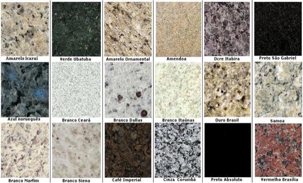 Marmore e granito direto da jazida em pisos e chapas para for Granito colores claros