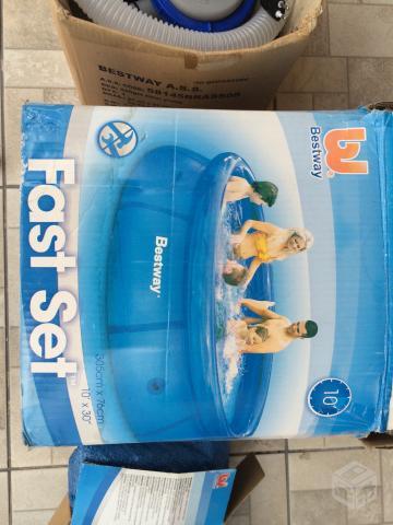 Escorregador rally pro c 2 pistas azul bestway vazlon brasil for Lona piscina bestway