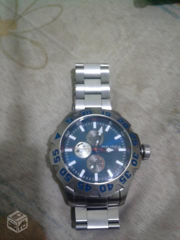 9b451944460 relogio nautica ng azul e pulseira de aco   OFERTAS