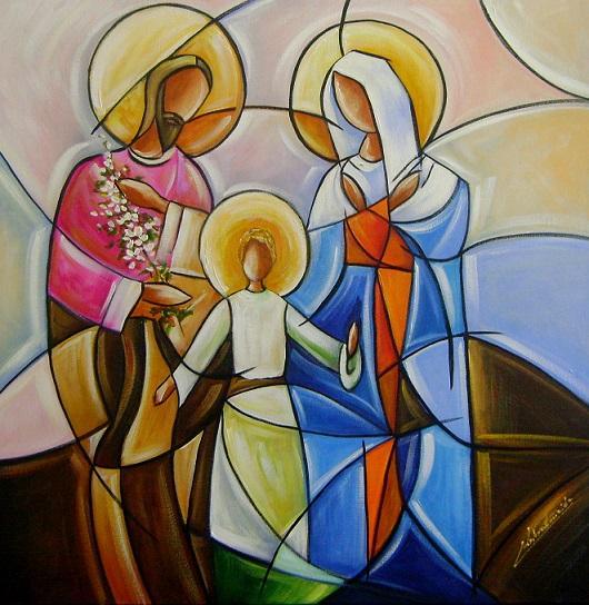 Pintura em tela temas religiosos para decorar sua sala na for Pinturas para decorar