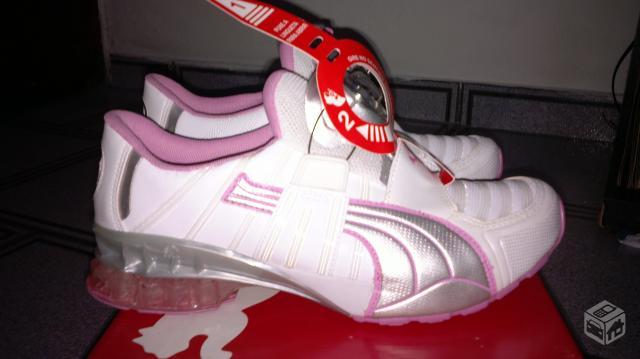 1ee11c57d62 tennis puma rosa e branco tamanho novo   OFERTAS