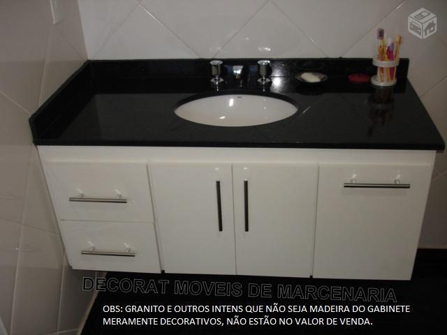 gabinete para banheiro  Vazlon Brasil -> Armario De Banheiro Com Pedra De Granito