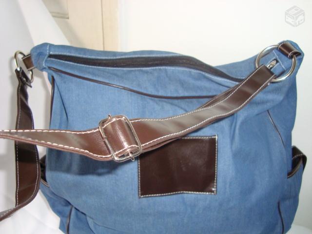 bolsa mala em brim bolsa sacola em brim cores bege branca azul claro