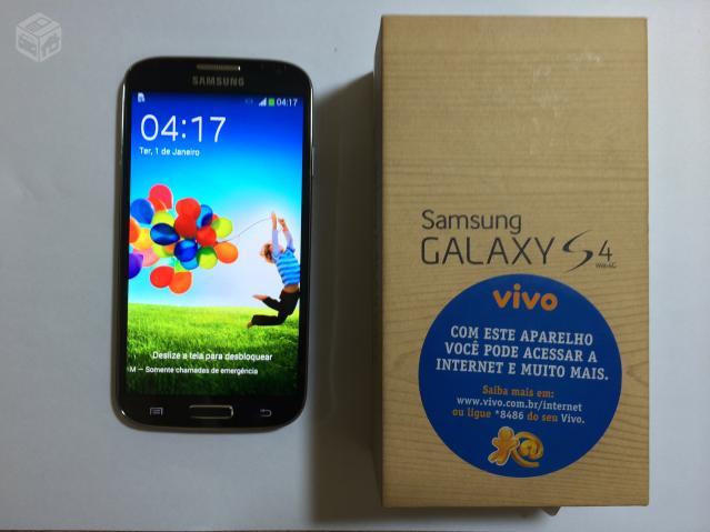 Celular Desbloqueado Samsung Galaxy S4 Gt I9500 Branco Com: Galaxy S4 Preto 4g Nacional Troco [ OFERTAS ]