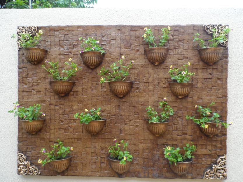 trelica de jardim vertical:painel para jardim vertical em fibra de vidro