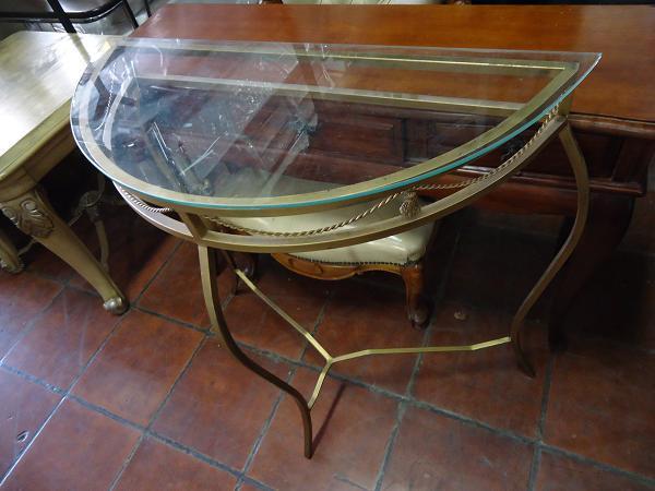 Armario De Cozinha De Madeira ~ aparador de ferro trabalhado e tampo de vidro estilo Vazlon Brasil