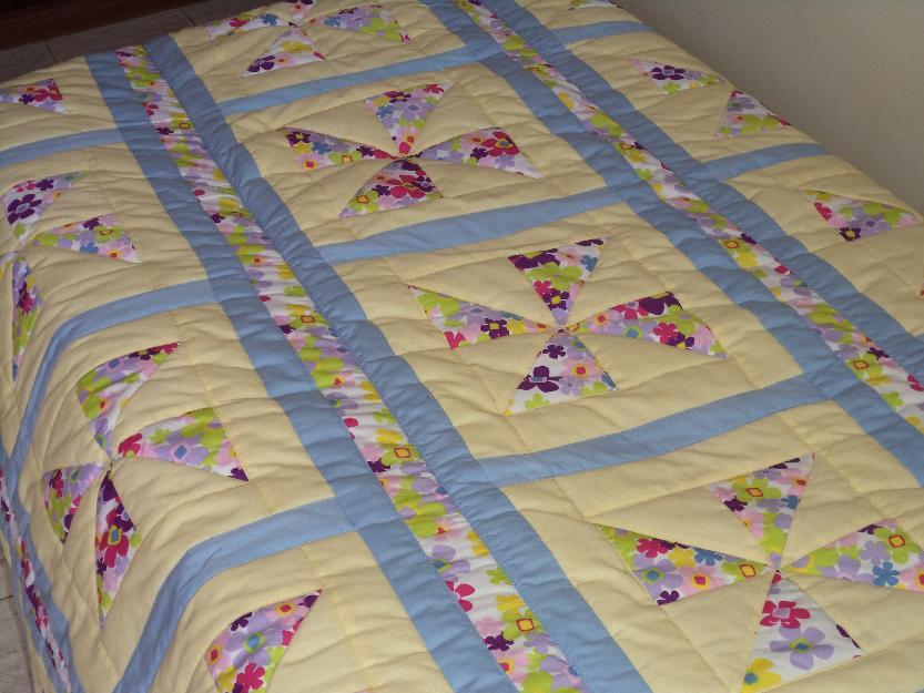 Aparador Vidro ~ colcha patchwork casal totalmente artesanal Vazlon Brasil