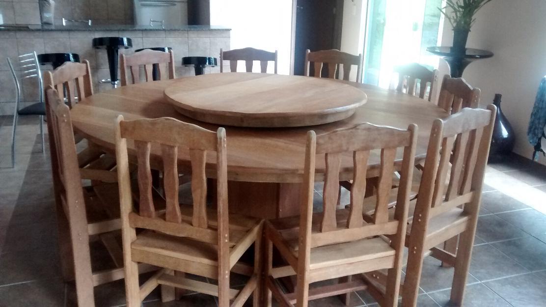 Conjunto mogno com 2 cadeiras colonial mesa de centro e de - Mesa centro colonial ...