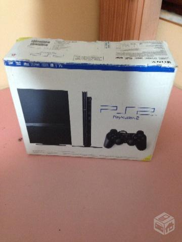 PlayStation 2 com Controles e Memory Card
