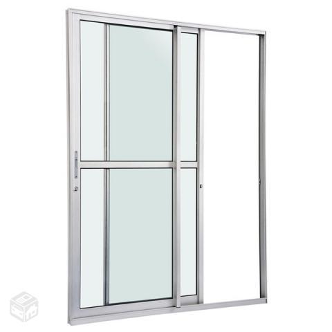 Porta balcao de aluminio branca semi novo ofertas for O que e porta balcao