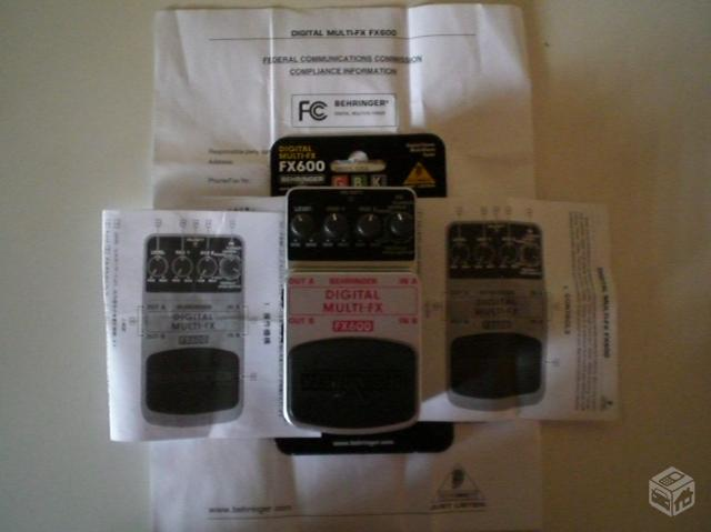 Behringer fx digital multi fx guitar effect ped