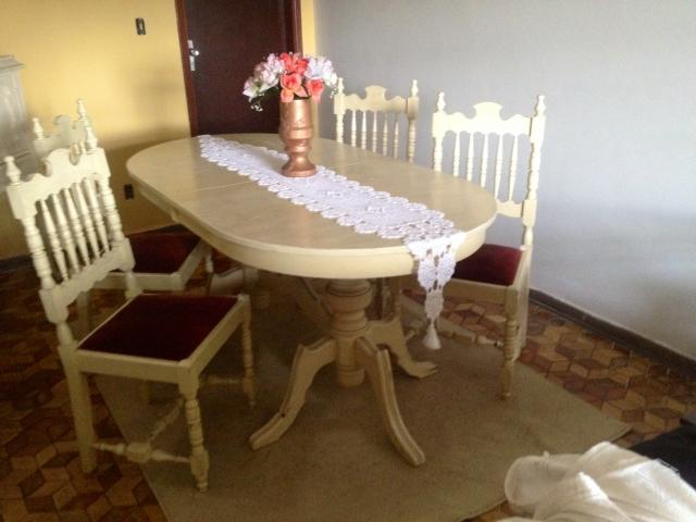 Sala De Jantar Usada Antiga ~ mesa de jantar madeira antiga mesa antiga com 4 cadeiras formato oval