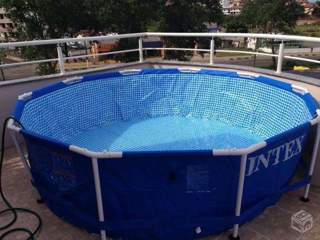 Piscina litros estrutura metalica com filtro ofertas for Filtro de piscina intex