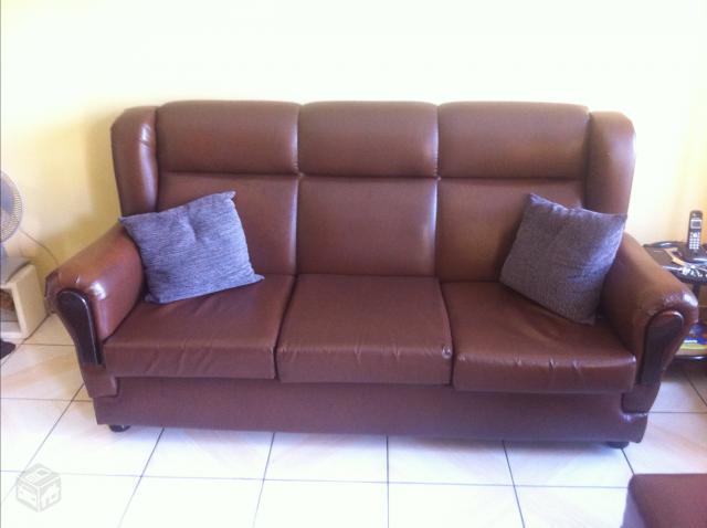 Conjunto sofa estilo colonial couro sintetico ofertas vazlon brasil - Sofas estilo colonial ...