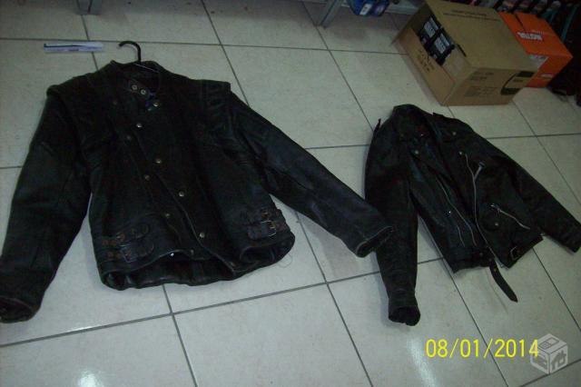 Jaquetas de couro e bota harley davidson