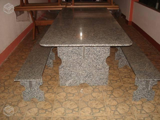 Mesa de granito com 4 bancos ofertas vazlon brasil - Mesa de granito ...