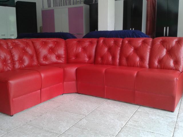 sofa de canto preto em corino novo e embalado 【 OFERTAS ...