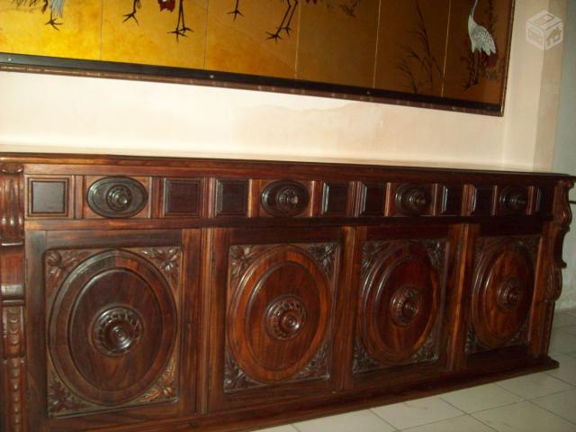 Armario Mdf Provençal ~ arca em madeira trabalhada quatro portas e quatro gavetas Vazlon Brasil