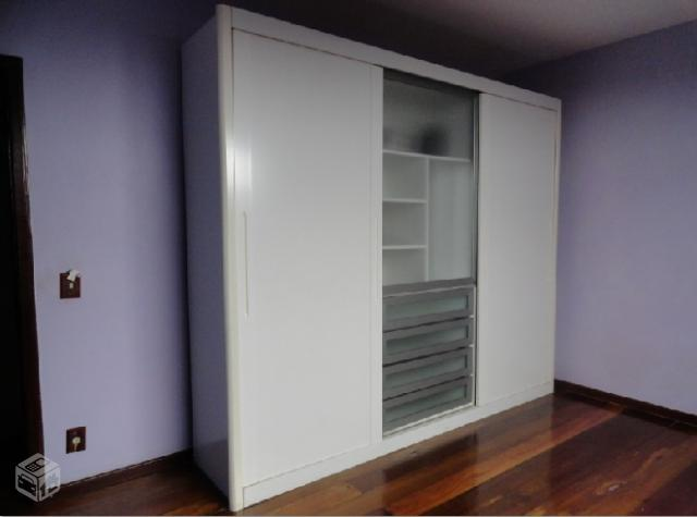 Adesivo De Natal ~ armario 2 porta de correr e duas gavetas branco r