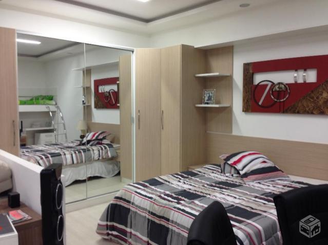 armario de quarto 3 portas de correr Vazlon Brasil ~ Quarto Planejado Casal Valor