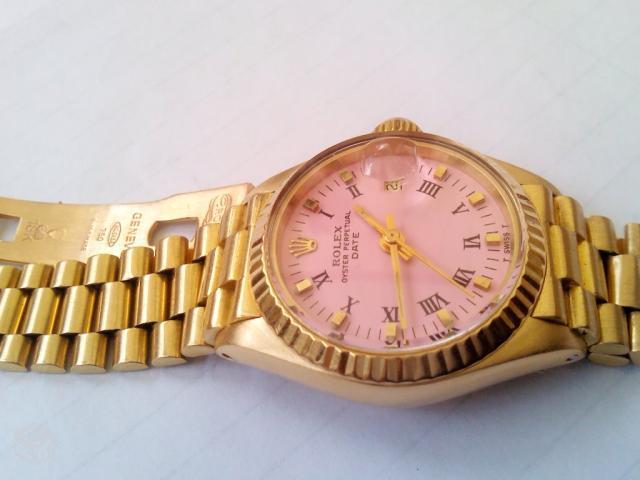 9cca18f257b Rolex presidente de ouro com pulseira de brilhantes e rubis jpg 640x480 De ouro  rolex el