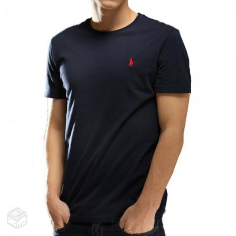 2c4f34b27f camiseta ralph lauren azul escuro m original   OFERTAS