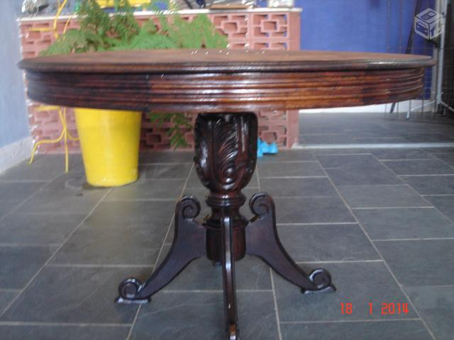 Sala De Jantar Usada Antiga ~ mesa de jantar redonda antiga vendo mesa de jantar antiga de madeira