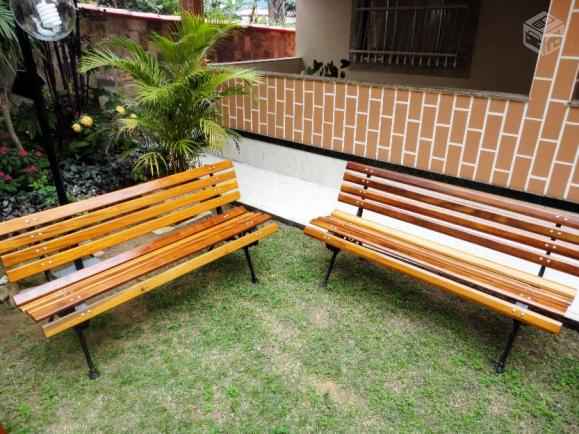 banco de ferro para jardim rio de janeiro:banco de jardim em madeira e pe de ferro fundido belo