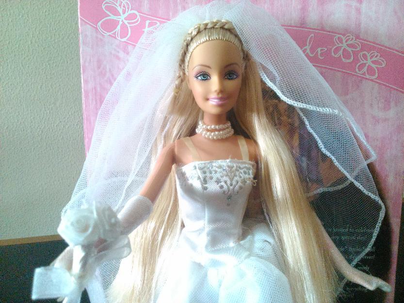 Barbie Noiva ~ vestidos de gala casamento e noiva p barbie acessorios Vazlon Brasil