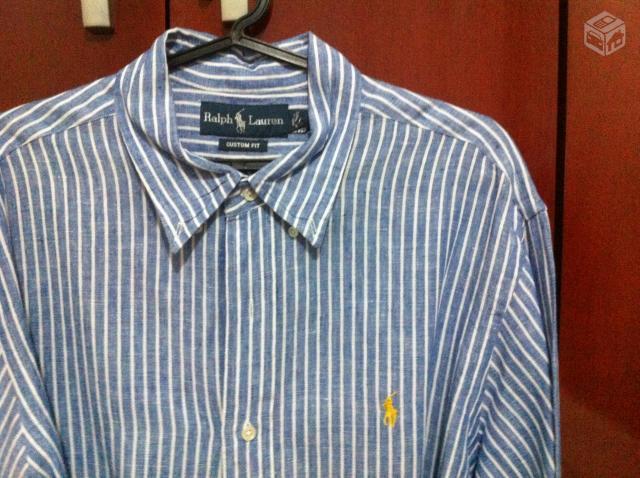 camisa social listrada masculina halp lauren sao goncalo   OFERTAS ... b6483d104c122