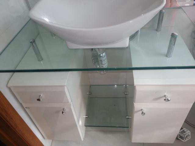 gabinete banheiro scalline cuba torneira deca  Vazlon Brasil -> Torneiras Para Banheiro Cuba Sobrepor