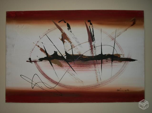 Pintura acrilica abstrata