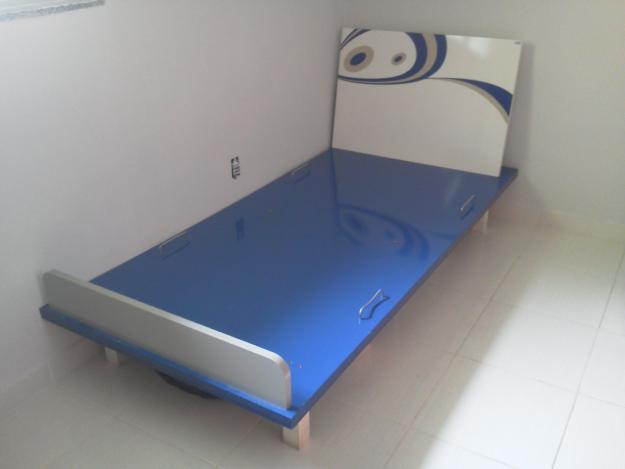 Pin vendo esta cama individual barata pesos dos piezas de for Vendo cama individual