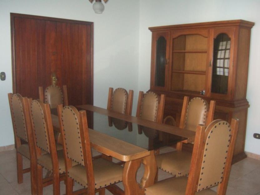 Jogo De Sala De Jantar ~ Jogo Sala Jantar Cerejeira, Mesa com Oito Cadeiras + Armario