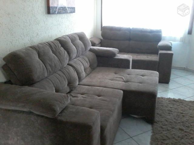 Sofa rinomato reclinavel e retratil ate 4 lugares vazlon for Sofa 4 lugares retratil