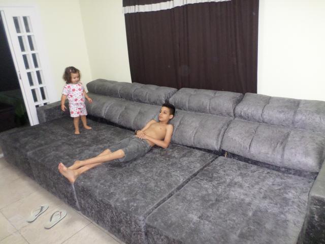 Sofa com chaise retratil e encosto inclinavel ofertas for Sofas de 2 metros