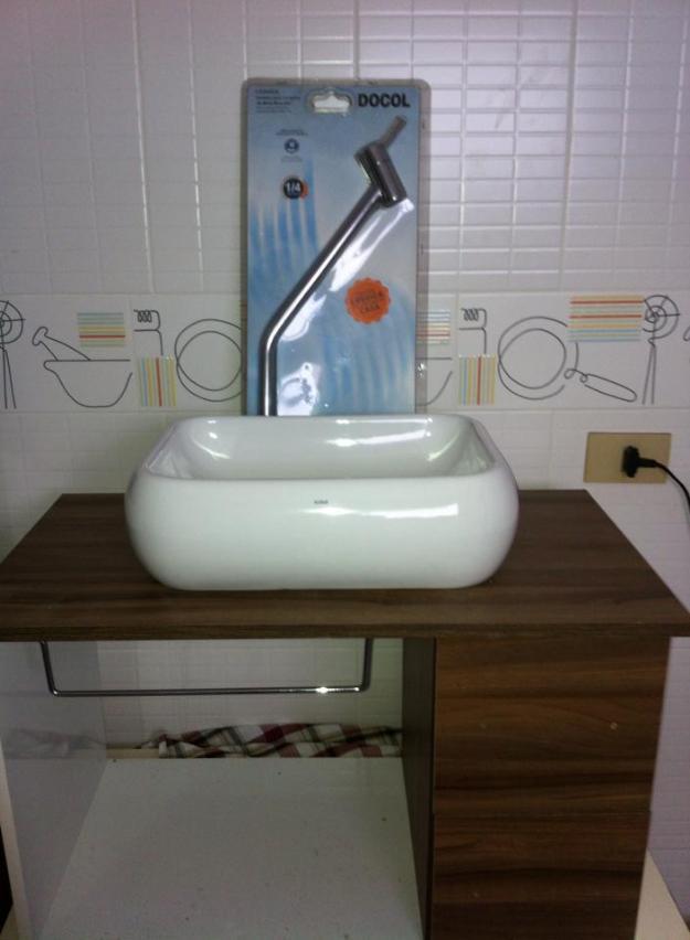 pia para banheiro com cuba e torneira  Vazlon Brasil -> Cuba E Torneira Para Banheiro