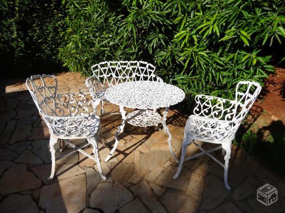 mesa jardim ombrelone:conjunto de mesa de jardim em aluminio namoradeira mesa