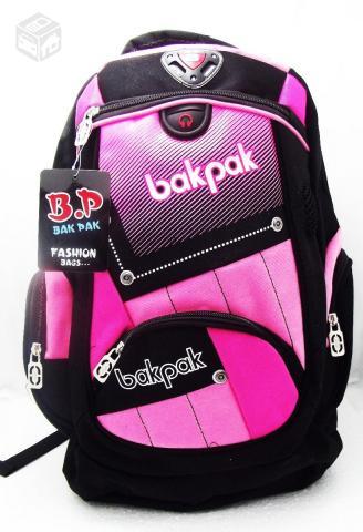 5c860b973a7e1 mochila bakpak b4a preta com rosa original r   OFERTAS     Vazlon Brasil