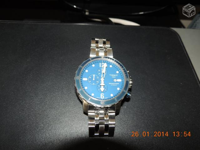 71f48bc9fbc relogio tissot seastar automatic chronograph blue r   OFERTAS ...