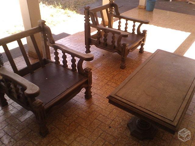 Lindo conjunto de sofa colonial madeira macica em ofertas vazlon brasil - Sofas estilo colonial ...