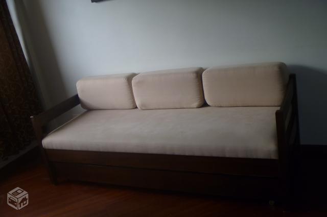 Sofa cama madeira macica r vazlon brasil - Sofa para tres ...