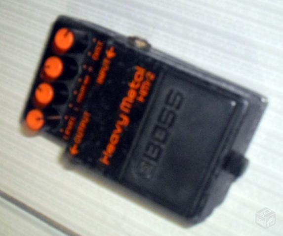 Pedal para guitarra boss heavy metal